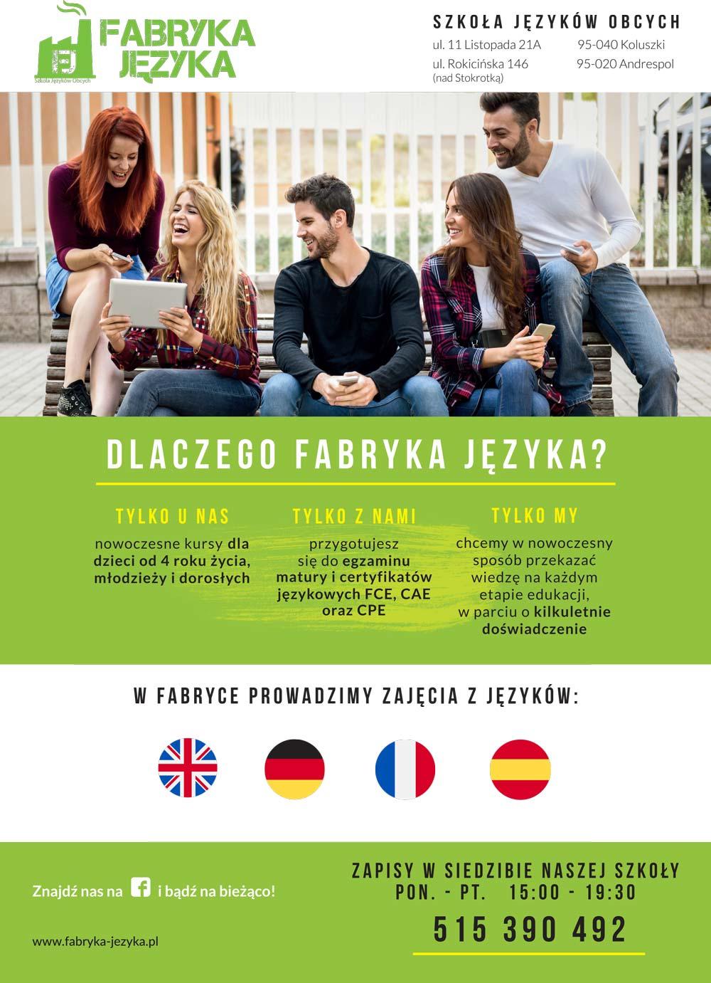 Szkoła Językowa Koluszki Andrespol